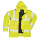 Hi Vis Yellow Quilted Storm Coat