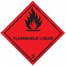 Class 3 Flammable Liquid Hazard Diamond Label 200 x 200mm