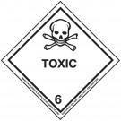 Class 6 Toxic Substances Hazard Diamond Label 100 x 100mm