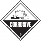 Class 8 Corrosive Substances Hazard Diamond Label 100 x 100mm