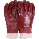 PVC Red Knit Wrist Glove