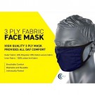 3 Ply Washable Fabric Face Mask