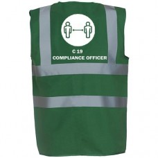 Covid-19 Compliance Officer Printed Vest