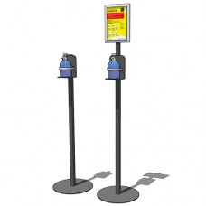 Free Standing Sanitiser Station with Sign
