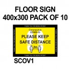 FLOOR SIGN 400x300 PACK OF 10