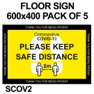 FLOOR SIGN 600x400 PACK OF 5
