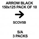 ARROWS BLACK 150 x125 Pack Of 10