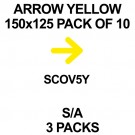 ARROWS YELLOW 150x125 PACK OF 10