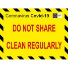C-19 Clean Regularly Sticker 200x150