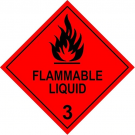 Class 3 Flammable Liquid Hazard Diamond Label 100 x 100mm