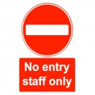 No Entry Staff Only Sign