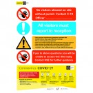 C-19 Access By Permit Sign / 1200 x 800