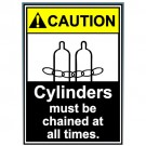Caution Cylinders Must Be Chained