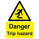 Danger Trip Hazard Sign