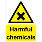 Caution Harmful Chemicals Sign