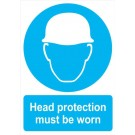 Head Protection must be worn Sign