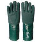 PVC Double Dipped 14Inch Green Gauntlet