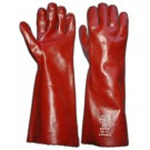 PVC Red 16Inch Gauntlet