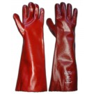 PVC Red 18Inch Gauntlet